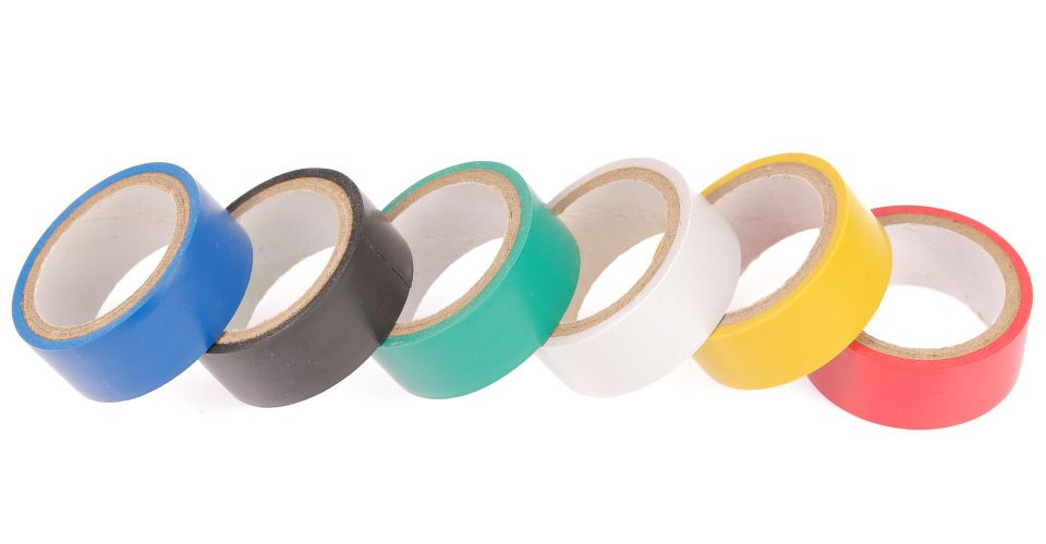Coloured electrical tapes